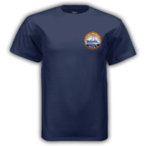 Erasing the Liberty t-shirt navy front