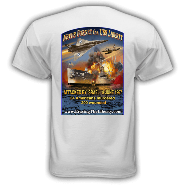 Erasing the Liberty t-shirt white back
