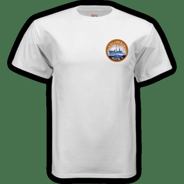 Erasing the Liberty t-shirt white front